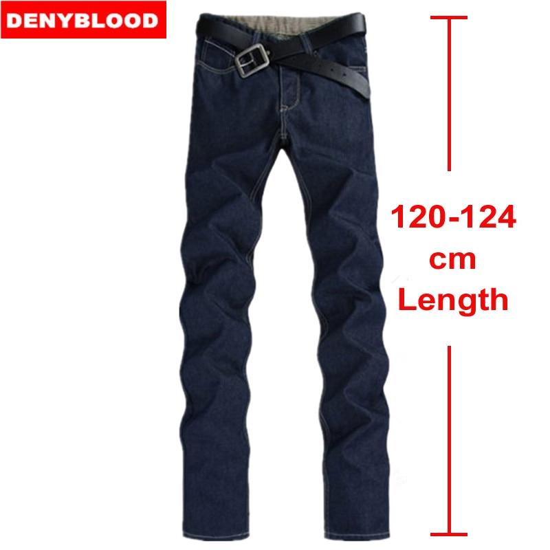 124cm Extra long Jeans Men Plus Size 28-40 42 44 46 Spring 2016 Mens Cotton Denim Slim Straight Classic Stonewashed Jeans 072Îäåæäà è àêñåññóàðû<br><br>