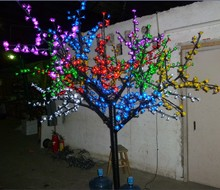 2M 6.6ft LED Cherry Blossom Tree light  Outdoor Christmas Wedding Holiday Light Decor 1152 LEDs 6 Mixed Color waterproof