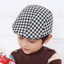 Kids Spring Autumn Hat Baby Boy Girl Berets Plaid Cap casquette Children Cool Flat Beret Caps gorros