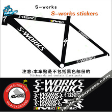 S - works Bicycle Rack Stickers Road bike Mountain Bike Frame Reflective Stickers(China)
