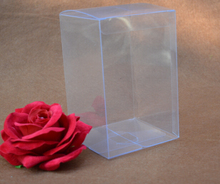 SIZE: 3*3*3cm Small clear transparent gift boxes Cube Christmas gift packaging PVC boxes wholesale