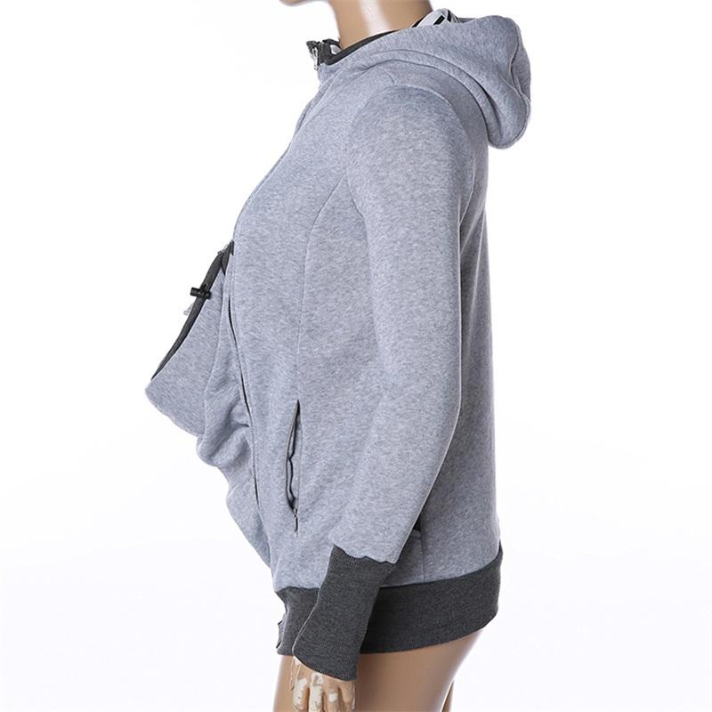 fashion style long sleeve maternity warm clothing mother autumn winter women hoddies carry baby infant sweatshirt zipper coat 8