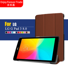 2016 New Flip Cover For LG G Pad 3 iii 8.0 V525 GPAD X 8.0 V521 Tablet funda cases Colorful Painted Leather case(China)