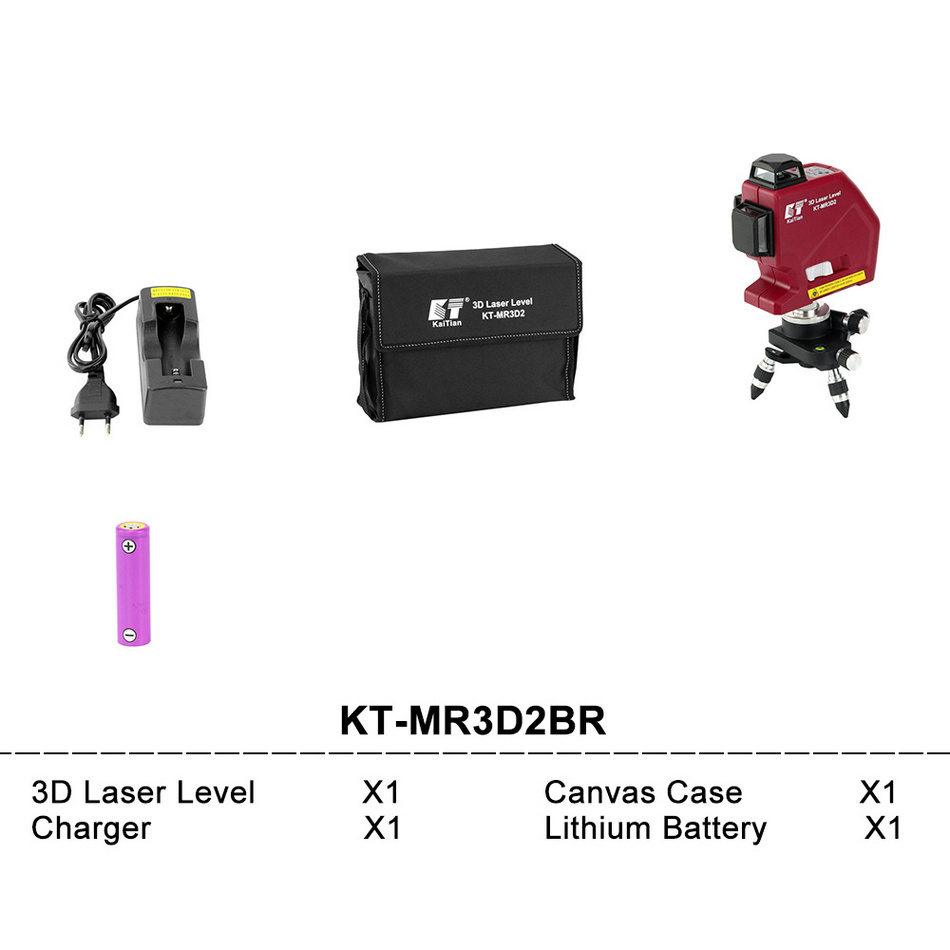 Kaitian Laser Level MR3D2BR SET