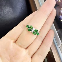 2017 Qi Xuan_Fashion Jewelry_Tourmaline Stone Bowknot Woman Rings_S925 Solid Sliver Fashion Rings_Manufacturer Directly Sales