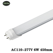 T8 1.5ft 6w Led tube AC85-265v led light bulb SMD2835 wall light cool warm white living room 450MM led lights for home(China)