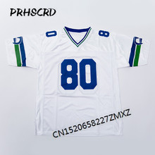 Retro star #80 Steve Largent Embroidered Throwback Football Jersey(China)