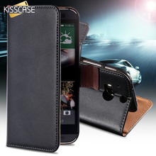 KISSCASE Top Quality Genuine Leather Case For HTC One M8 Mobile Phone Bag Wallet Stand With Card Holder Cover For HTC One M 8