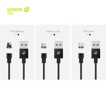 WSKEN NEW ARRIVE, BLACK Magnetic cable,micro usb  for android devices, and For lightning, for type-c device. charging cables.