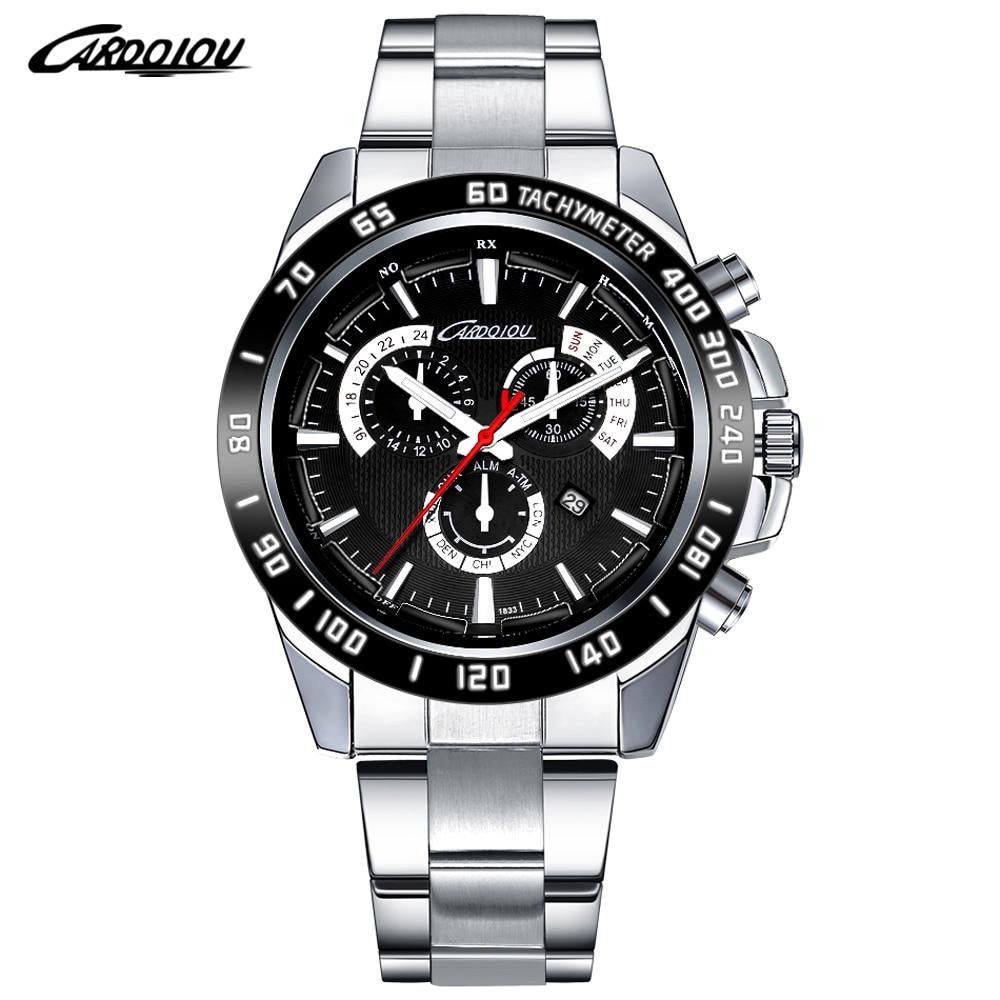 Top Brand Luxury Quartz Mens Watches High Quality Solid Stainless Steel Clock Men Waterproof Calendar Wristwatches Herren Uhren<br><br>Aliexpress