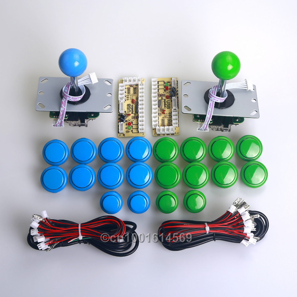 Reyann Arcade DIY Kits Part MAME Cabinet 20 X Arcade Push Buttons + Zero Delay PC Encoders + Joysticks For Sanwa OBSF-30 Button <br>