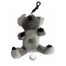 Cartoon Koala Design Golf Ball Bag Can Hold 3 Balls