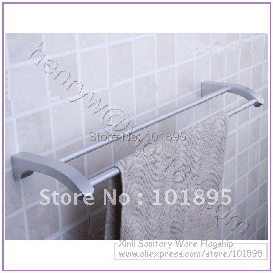 Retail- Aluminium Fashion Towel Bar, Double Bar Towel Holder Wall Mounted, Free Shipping L15608<br><br>Aliexpress
