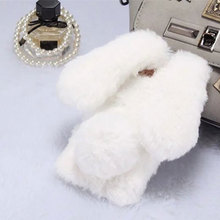 Buy Capa iPhone 8 Case Rabbit Fur Hair Bunny Warm Furry Plush Cover Luxury Rhinestone Diamond Case iPhone 8 Plus Phone Cover for $6.89 in AliExpress store