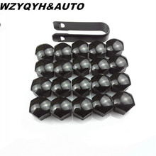 2 17mm Car Wheel Lug Nut Center Cover Caps + Removal Tool Volkswagen Vw Golf Jetta Passat A4 A3 Q5 Styling - FRCY2 Store store