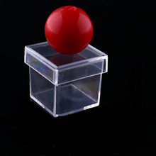 100pcs New Amazing Funny Clear Ball Through Box Illusion Magic Magician Trick Game Sell Hotting YH120