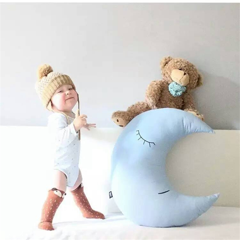 New Blue Moon Plush Toys Baby Bed Home Decoration Pillow Cushion Moon Cloth Doll Baby Doll Birthday Gift Stuffed Toys  outlet<br><br>Aliexpress