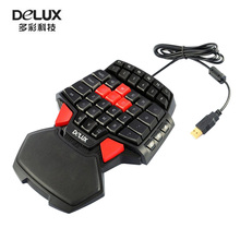 Creative gift T9 47-Keys Single Hand wired Professional gaming keyboard 3-Color LED Backlight Ergonomic Keypad(China)