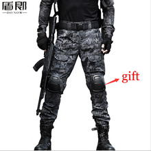 Mens Military Tactical Loose Multi Pocket Militar Cargo Pants Ripstop Camouflage Combat Army Trousers Knee Pads - Outdoor Store store