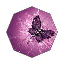 Beautiful Butterflies Custom Made Portable Folding Travel Design Rain and Sun Beach Umbrellas Hat Unique Parasol Umbrella