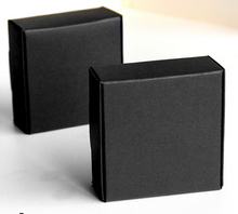 Joy 50Pcs/lot Black Jewellery Package Boxes Craft Gift Handmade Soap Packaging Kraft Paper Boxes