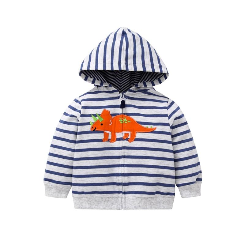 long sleeve cartoon dinosaur animal print hooded jacket 2019 baby boy girls clothes toddler spring autumn infant clothing
