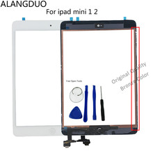 ALANGDUO Original Table Screen For ipad Mini mini 1 2 Touch Screen Digitizer+IC Flex Chip+Home Button Flex Cable Assembly+Tools