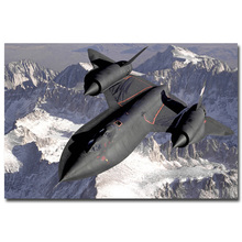 SR-71 Blackbird Aircraft Military Art Silk Poster Print 13x20 24x36 inches Sky Landscape Pictures For Wall Decor 003