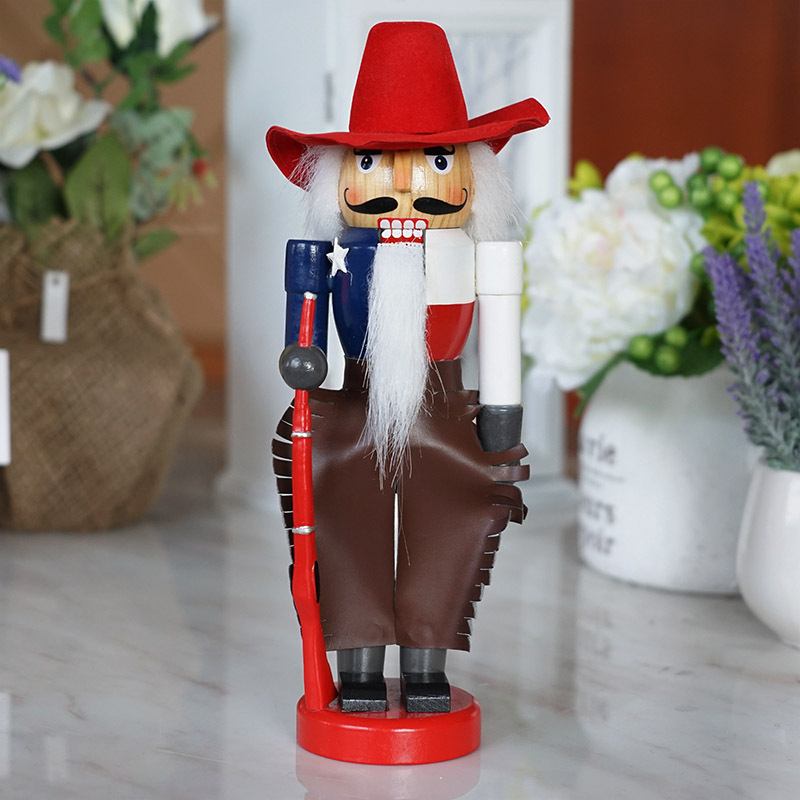 10  Nutcracker Cowboy Wooden Crafts Decorative Ornaments<br>