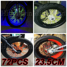 13 colors Universal Motorcycle Dirt Bike Enduro Off Road Wheel Rim Spoke Skins Covers For YAMAHA zx6r