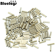 BlueJays 100pcs/lot Fishing stainless steel fishing line sleeve copper tube 0.8-3.4mm fishing accessories fishing line tube 8mm(China)
