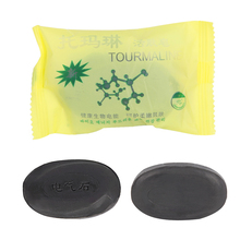Tourmaline Bamboo Soap Traditional Charcoal Active Energy Herbal Soaps For Acne HTY07
