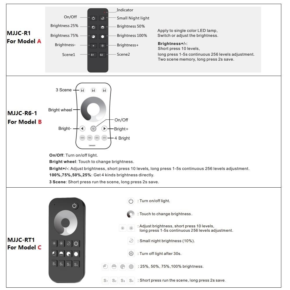 Wireless led dimmer