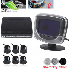 LightHeart Waterproof 6x Beep Alert Rear View Car Parking Sensors with Display Monitor & Dual CPU system(China)