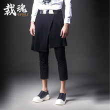 2016 New Sale Loose Bamboo Fiber Mid Ankle-length Pants Military Pinli Installed Nine Pants Men's Autumn Male K045 Casual Skirt