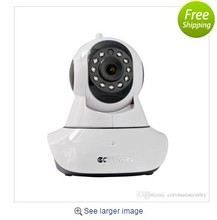 Network hd monitor security CCTV camera rotate 360 degrees WIFI surveillance cameras Can connect the alarm door magnetic devices