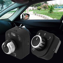 Auto Car Vehicle Door Side Rearview Mirror Control Knob Switch Fit For Audi A4 B6 B7 Foldable