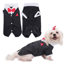 Pets Dog Clothes Dog Suit Clothes For Dogs Swallowtail Suit Bowknot Wedding Apparel Jacket Shirts for Dogs Puppy