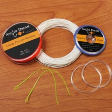 WF 1/2/3/4/5/6/7/8/9F Fly Fishing Line Combo Yellow Green Blue Orange Pink White Fly Line Backing Line Tippet Tapered Leader(China)