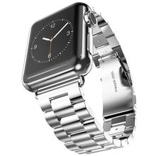 Gosear Premium Stainless Steel Metal Replacement Strap Wrist Band Connection Adapter Clasp for Apple Watch iWatch i watch 38mm