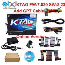 Top Rated 2017 K-tag V7.020 ECU Programming Tool KTAG FW 7.020 SW V2.23 Master Manager Tuning Kit Add GPT Cable Online Version
