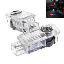 2Pcs Auto Car Door Ghost Logo Laser Projector Under Puddle Lights For AUDI S line A4 A3 A6 C5 Q7 Q5 A1 A5 80 TT A8 Q3 A7 R8 RS