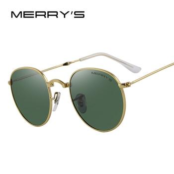 Merry's retro mulheres dobrado óculos de sol dos homens polarizados clássicos óculos de sol oval s'8093