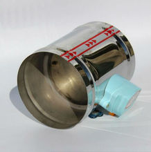 "100MM Stainless steel electric air damper, 24VAC Air damper air tight type, 4"" ventilation pipe valve"