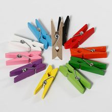 10pcs Mini Colorful Wood Clips Clothespin Clips for Photo Paper Handicrafts Scrapbook Photos Papers Home Clothes Menu Clip