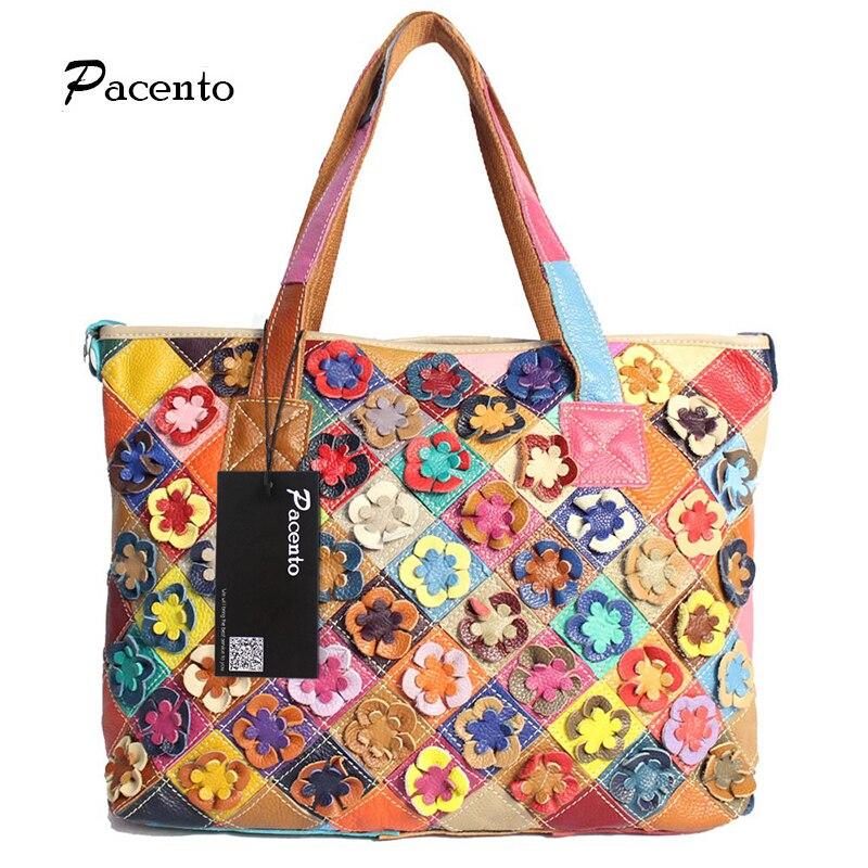 2017 Fashion Multicolour Genuine Leather Bags Weave Handbags Womens Shoulder Bag Messenger Bag Colorful Handbag Female<br><br>Aliexpress