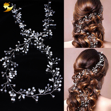 Buy XinYun Wedding Hair Accessories Headband Pearl Long Bridal Hairbands Headwear Fashion Hair Ornaments Jewelry Headbands Hairwear for $8.66 in AliExpress store