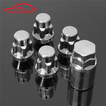 4x 12x1.5mm Alloy Wheel Lock Nuts 60 Taped Security Bolts & 1x Key Anti Theft(China)