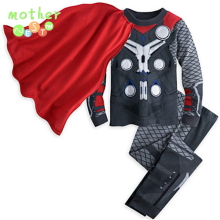 Casual wear spiderman children clothing sets Baby Boy's Iron man cosplay costume kids sport sets,long sleeve toddler sleepwear