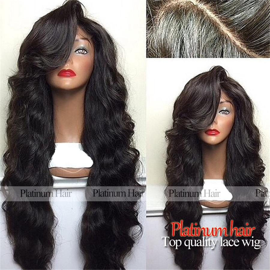 Fast Shipping Heat Resistant Black Hair Wig Afforadble 180 Density Synthetic Lace Front Wig For Black Women Fiber Hair Wigs<br><br>Aliexpress